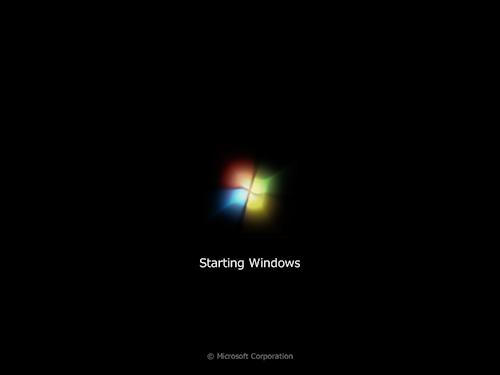 Windows 7の起動画面2