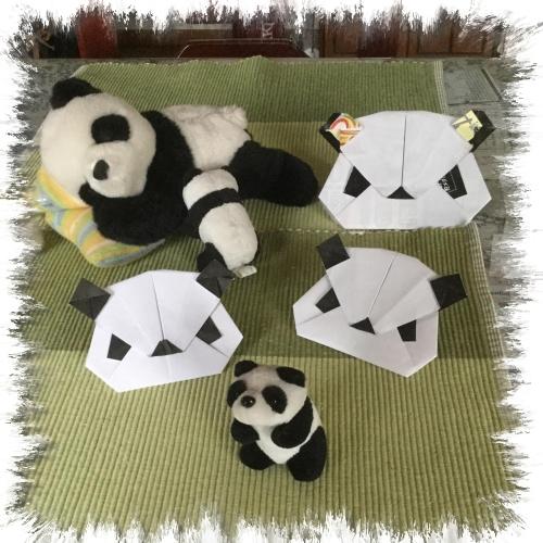 パンダを折りました