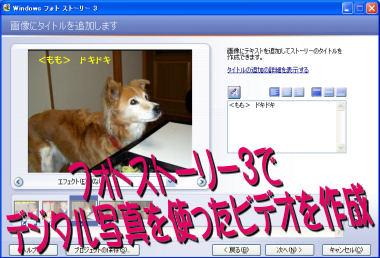 デジタル写真を使ったビデオ作成[Photo Story3]